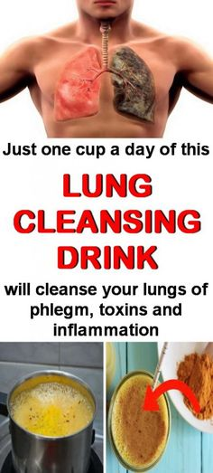 Natural Home Remedies Natural lung cleansing drink. Lung Cleanse, Body Detox Cleanse, Kidney Cleanse, Health Cleanse, Lung Detox, Kidney Detox, Diet Detox, Juice Cleanse, Cooking With Turmeric