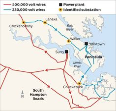 South Hampton Roads as well as Richmond and points west and north along the I-95 and I-64 corridors are all linked to Dominion Virginia Power's network of high voltage, 500,000 volt wires, as is the Roanoke area. The Peninsula is the only major population center in Virginia that is not. Source:...