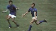 Italy 4 West Germany 3 in 1970 in Mexico City. Luigi Riva is overjoyed, his goal on 104 mins makes it Italy in the World Cup Semi Final. 1970 World Cup, World Cup Final, World Football, Semi Final, Mexico City, 2 In, Luigi, Tuono, Finals