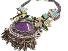 #Bijoux #vanityher #collana #necklace #colori #colors #viola #verde #turchese