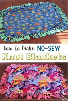 Looking for a thoughtful gift idea? Every wondered how to make a knot blanket? If so, this tutorial will be your best friend! Learn how to make a super easy DIY knot blanket in a matter of hours. These tie-knot blankets require NO SEWING and are doable fo Diy Knot Blankets, Fleece Knot Blanket, Fleece Tie Blankets, No Sew Blankets, Weighted Blanket, Fleece Hats, Flannel Blanket, Sewing Crafts, Sewing Projects