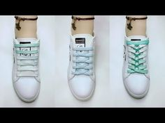 This video gives you step by step instructions on how to checkerboard lace your shoes. Ways To Lace Shoes, How To Tie Shoes, All Star, Ways To Tie Shoelaces, Shoe Lacing Techniques, Tennis Vans, Creative Shoes, Shoe Crafts, Clothing Hacks
