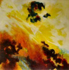 Werden 2002 (Serie Schöpfung) Acryl auf Leinwand/Holz 90 x 90 cm