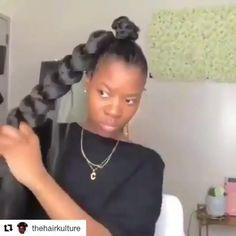 Hair Twist Styles, Hair Ponytail Styles, Weave Ponytail Hairstyles, Braids Hairstyles Pictures, Hot Hair Styles, Natural Hair Ponytail, Natural Hair Twists, Lemonade Braids Hairstyles, Hair Tutorials For Medium Hair