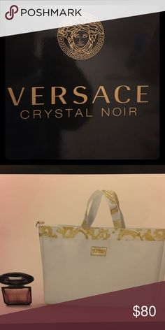 Versace Crystal Noir 3.0 fl oz with summer bag Versace perfume and summer bag. Only taken out of box but never used. Versace Other