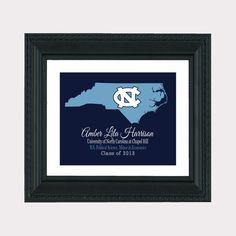 UNC Chapel Hill Graduation - 8 x 10 Art Print