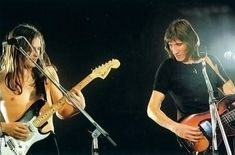 """lifeofafloyd: """"David Gilmour and Roger Waters """""""