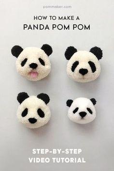 Pom Maker Tutorial - How to Make a Panda Pompom   blog.pommaker.com