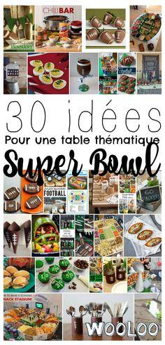 Vous prévoyez recevoir à la maison pour l'occasion? voici plusieurs belles idées pour créer une jolie table thématique pour le Super Bowl! Occasion, Voici, Table, Home, Tables, Desk, Tabletop, Desks