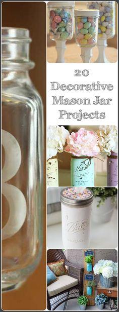 20 Decorative Mason Jar Projects