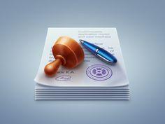 """Windows app icon """"Document Workflow"""" by Konstantin Kolesov"""