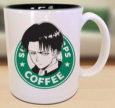 Levi Ackerman Survey Corps Attack on Titan Starbucks Anime Manga Japanese Insipred Cartoon Geek Nerd Mug M Anime, Anime Life, Otaku Anime, Anime Stuff, Anime Boys, Anime Inspired Outfits, Anime Outfits, Levi Ackerman, Animal Mugs