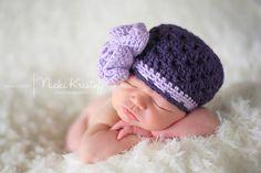 Baby Hat, Crochet Newborn Baby Girl Hat, Crochet Newborn Photography Prop, Holidays, Christmas. $17.00, via Etsy.