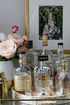 my no-fail formula to styling a bar cart
