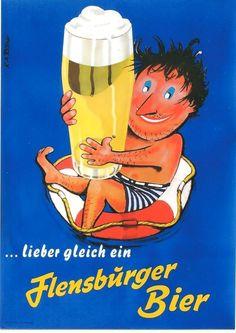 Original vintage poster FLENSBURG BEER & LIVE GUARD c.1960   eBay