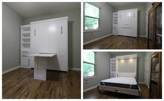 Our customer chose the Bedder Way Vertical Queen Table Face Murphy bed in maple painted White along with a side cabinet. Murphy Bed, Queen, Cabinet, Storage, Gallery, Face, Furniture, Home Decor, Clothes Stand