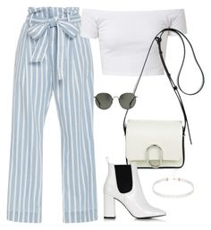 """Sin título #2323"" by camila-echi ❤ liked on Polyvore featuring Frame Denim, 3.1 Phillip Lim, Linda Farrow and Topshop"