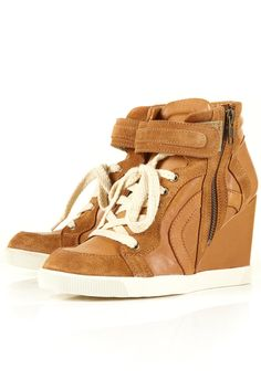 Topshop Athlete Wedge Heel Trainers