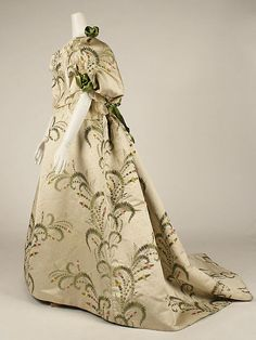 Ball gown Design House: House of Worth (French, 1858–1956) Designer: Charles Frederick Worth (French (born England), Bourne 1825–1895 Paris) Date: 1889 Culture: French Medium: silk
