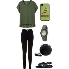 eco green by inggar on Polyvore featuring polyvore fashion style Uniqlo Oasis Marni Linea Pelle Sprout