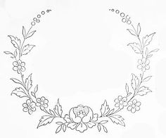 Wonderful Ribbon Embroidery Flowers by Hand Ideas. Enchanting Ribbon Embroidery Flowers by Hand Ideas. Embroidery Flowers Pattern, Embroidery Monogram, Simple Embroidery, Embroidery Transfers, Embroidery Patterns Free, Silk Ribbon Embroidery, Hand Embroidery Designs, Flower Patterns, Embroidery Stitches