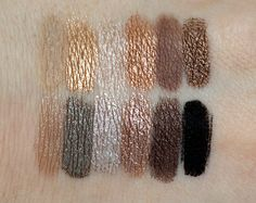 UD Naked2 swatches over primer.
