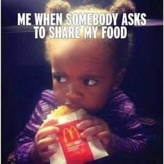 This is totally me and I'm definitely not sharing a hash brown