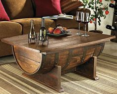 Turn a Wine Barrell into a Coffee Table for the Living Room