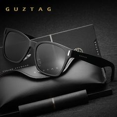 GUZTAG Unisex Aluminum Square Men Women HD Polarized Mirror Sun Glasses  Eyewear Sunglasses For Men oculos de sol 5d1cae0d2149