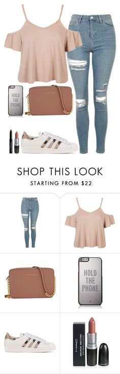 """Untitled #702"" by cupcakes077 ❤ liked on Polyvore featuring Topshop, Michael Kors, Kate Spade, adidas Originals and Givenchy"