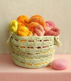 Free pattern of a crochet basket. ♥