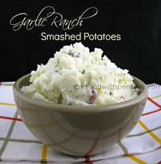 garlic ranch smashed potatoes