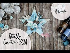 Estrella Creativa BCN by Nuneka Mixed Media Art, Mix Media, Christmas Time, Youtube, Crafts, Videos, Wooden Shapes, Bias Tape, Stars
