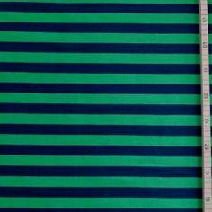 Sweat bio rayé vert-marine - 17.90 € /m