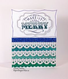 Colorful Christmas Card #ctmh #cricut #cardmaking