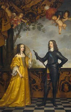 1647 Willem II, Prince of Orange and Maria Stuart by Gerrit van Honthorst