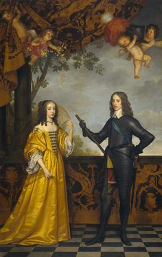 1647 Willem II, Prince of Orange and Maria Stuart by Gerrit van Honthorst