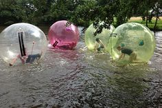 Water Zorbing... This is definitely on my summer bucket list! Lake Cumberland here I come!