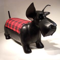 Scottish Terrier Footstool by GoodWoodDogs on Etsy