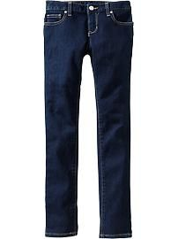 Girls Dark-Wash Super Skinny Jeans