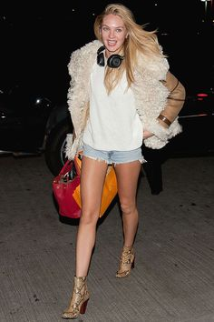 Candice Swanepoel's Shearling