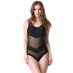 MEXI Stylish Sexy Women Mesh One-Piece Bikini Set Swimwear Swimsuit Beachwear L Black Mexi http://www.amazon.com/dp/B00XNCVHZY/ref=cm_sw_r_pi_dp_XWyZvb09HBVR2