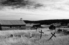 Mark Goebel: church and cemetery, San Isidro, New Mexico