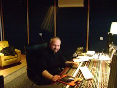 """Red House Recording Studio Oct 2007.  Me at the professional studio's """"buttons room"""" - Mastering (just helping) our debut CD of OLD MMHR (2007 - 2009 RIP)"""