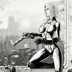 Fallout 4 Nuka Chick by dmaxcustom Fallout Fan Art, Fallout Concept Art, Fallout Funny, Female Character Design, Character Drawing, Fallout Posters, Samurai, Fallout New Vegas, Cyberpunk Art