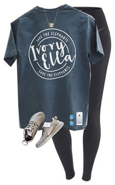 A fashion look from June 2016 featuring tee-shirt, NIKE and grey shoes. Browse and shop related looks. Cute Comfy Outfits, Cute Outfits For School, Trendy Outfits, Teenager Outfits, College Outfits, Girl Outfits, Fashion Outfits, Fashion Trends, Lazy Summer Outfits