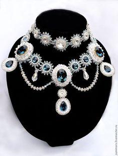 """Купить Колье """" Сияние Марии"""" - царица, императрица, роскошный подарок, роскошное украшение"""