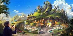 Os melhores parques temáticos do futuro Indoor Playground, Children Playground, Playground Ideas, Concept Art, Aquarium, Blog, Park, Nature, Natural Playgrounds