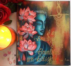 Budha Painting, Kerala Mural Painting, Ganesha Painting, Ganesha Art, Krishna Art, Indian Traditional Paintings, Indian Art Paintings, Modern Art Paintings, Simple Canvas Paintings