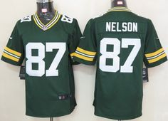 Green Bay Packers #87 Jordy Nelson Green Limited Jersey